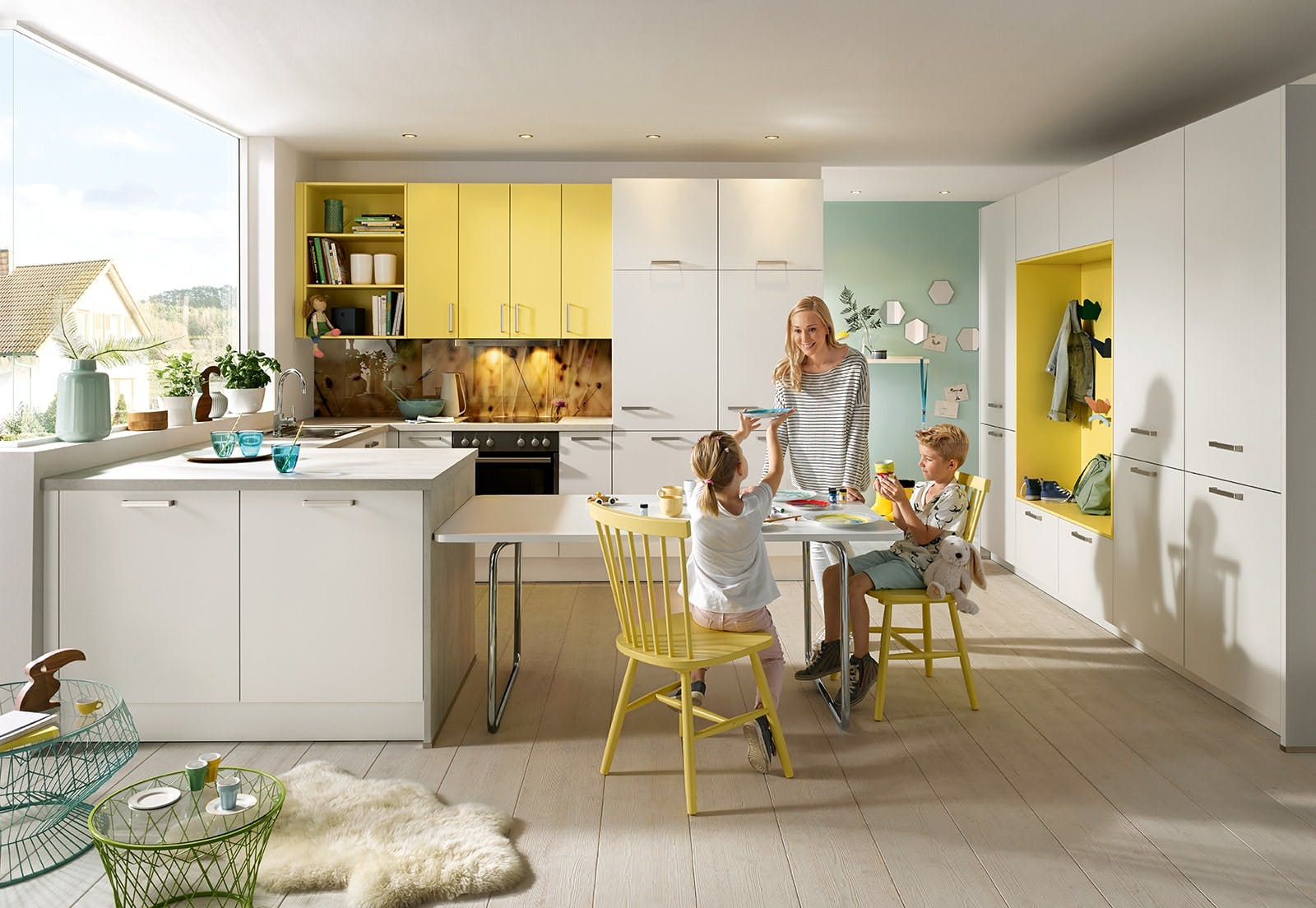 modern kitchen designs for families in Yorkshire