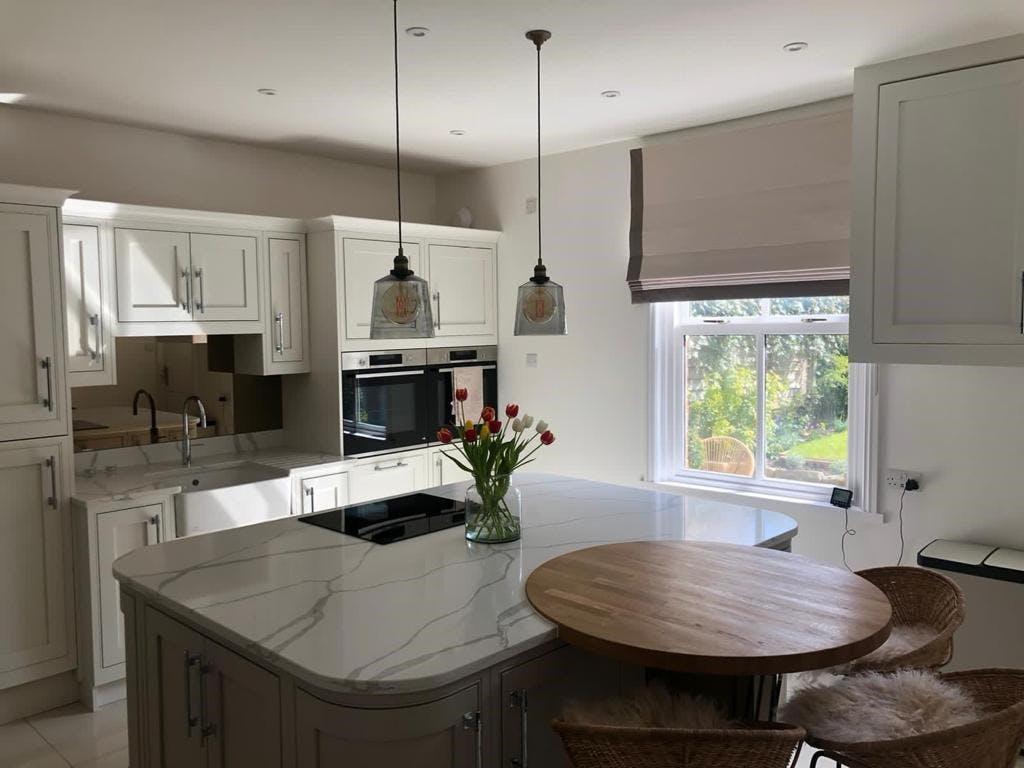 Second Nature Kitchens Clarendon With Calacatta Quartz Worktop