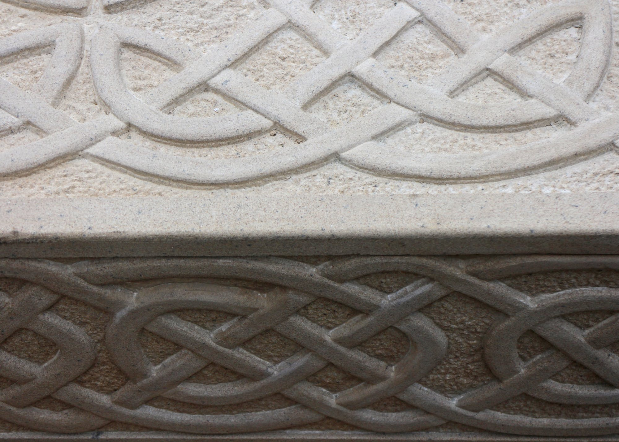 Close up detail of the carving.