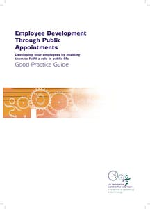 Employee development through public appointments
