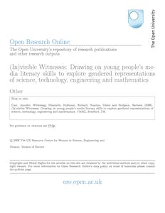 (In)visible witnesses drawing on young people's media literacy skills to explore gendered representations of science, technology, engineering and mathematics
