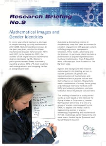 Mathematical images and gender identities
