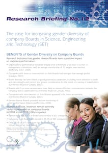 The case for increasing gender diversity of company boards in SET