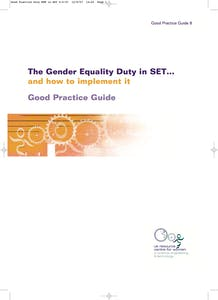The gender equality duty in SET: Good practice guide