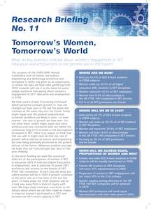 Tomorrow's women, tomorrow's world