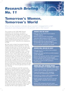 Tomorrow's women, tomorrow's world