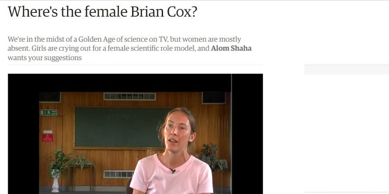 Where is the female Brian Cox?