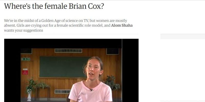 Where is the female Brian Cox?