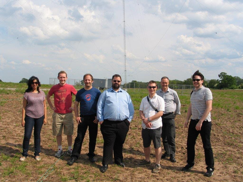Chase Farm transmitter, with colleagues from the BBC and Arqiva