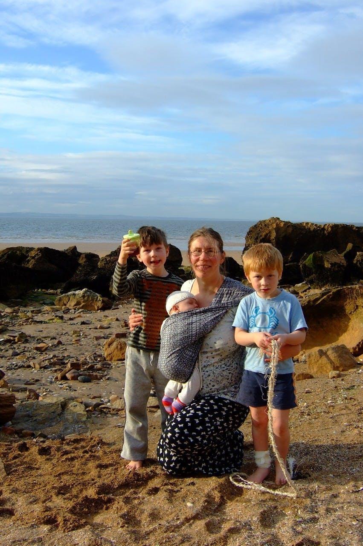 Olga with her children