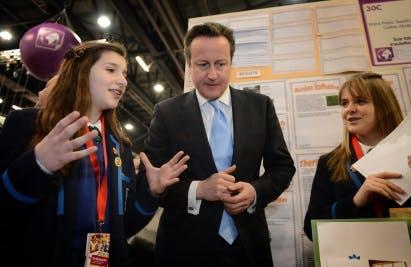 David Cameron at the BBF National finals