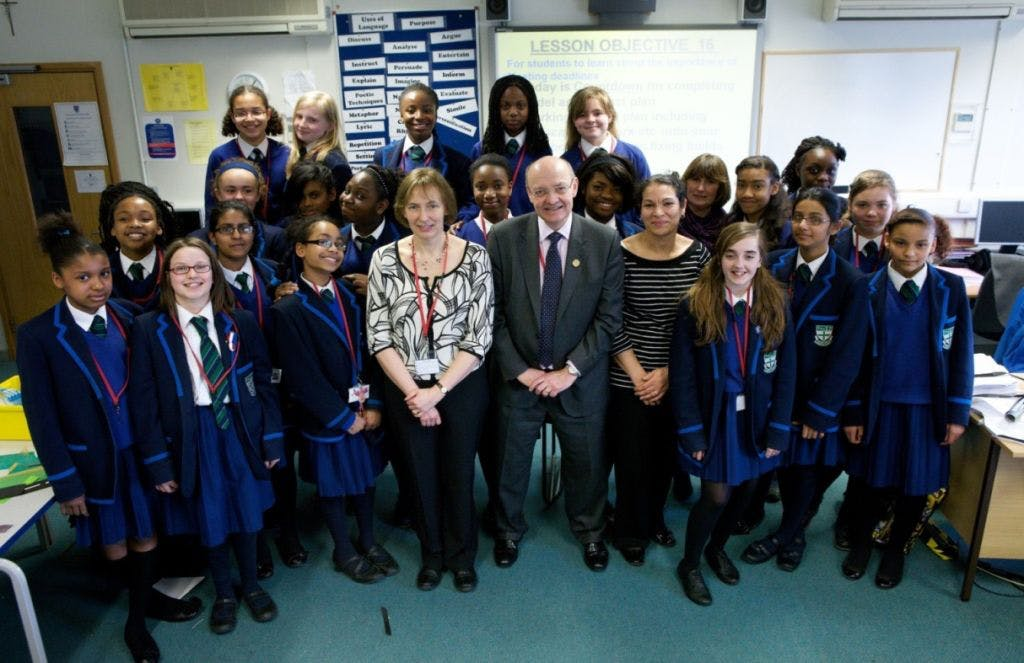 Peter Hansford, ICE President visits the school