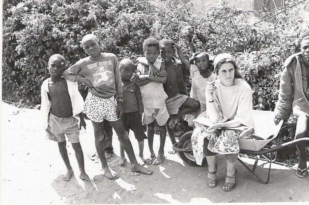 Sarah in Lusaka Zambia 1992