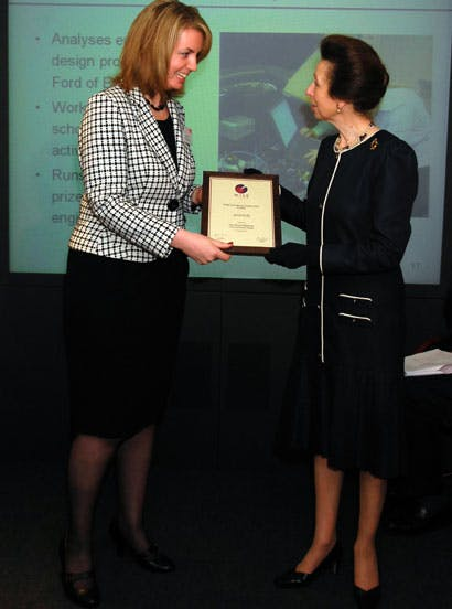 Myself and Princess Anne in 2007 when I was nominated for a WISE Prize