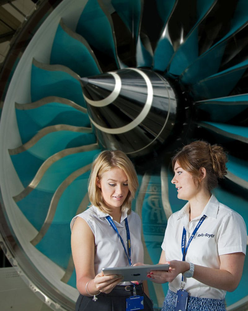 Rolls-Royce engineers
