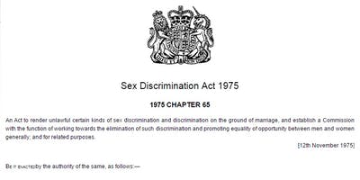 Sex Discrimination Act 1975