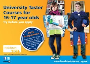 University Taster Courses for 16-17 year olds
