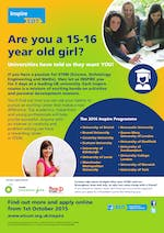 Inspire taster courses for 15-16 year old's