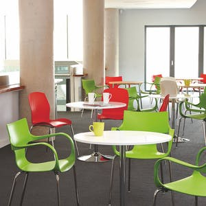 Bistro chairs from the Yorkshire Office Group can transform any canteen
